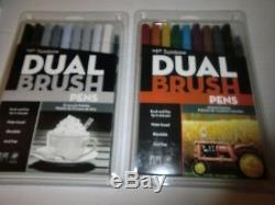 10 Sets Tom bow Dual Brush Marker Pens and 1 Lettering Set, New, Free Shipping