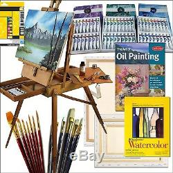 100 Piece Artist Paint Set French Inspired Hardwood Easel Online Art Supplies