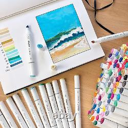 200 Colors Alcohol Art Markers, Ohuhu Double Tipped Marker Set for Kids Adults 1