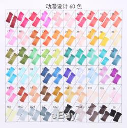 204 Color SET TOUCH Liit 6 Alcohol Graphic Art Twin Tip Pen Marker Animation