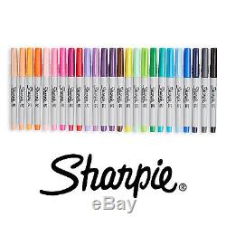 24 Pack Permanent Markers by Sharpie Fine Point Assorted Colors Set Art Tool