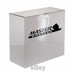 3 Master Airbrush TC-40 Air Compressor Kit, 6 Primary Colors Acrylic Paint Set