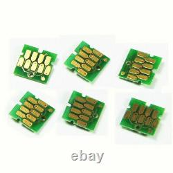 6PC Empty refillable Ink Cartridge + 2 set chips For Epson SC-F2000 F2100