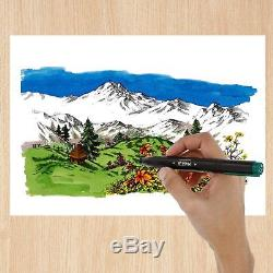 80 Color Master Markers Primary Tones Dual Tips, Set A Double-Ended Art Marker