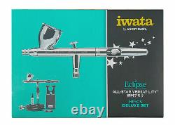 ANEST IWATA HP-CS-JP Set with Air Hose Eclipse Airbrush Gravity Made Japan NEW