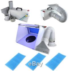 Airbrush Spray Booth w Extra 2PCS of Filter Exhaust Filter Extractor Set f Hobby