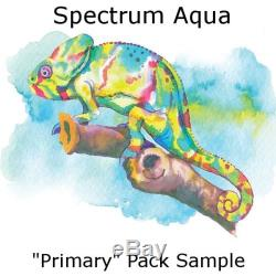 All 48 Spectrum Aqua Watercolor Based, Dual-Tipped Markers, all 4 sets