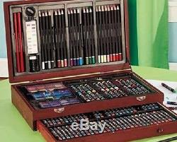 Art Paint Pencil Set Case Artist Colored Drawing Painting Supplies Kid Adult NEW