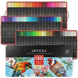 Arteza Fineliner Fine Point Pens, Set of 120 Fine Tip Markers with Colour Number
