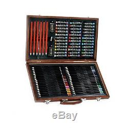 Artist Set Art 101 106 Piece Sketch Painting Case Painting Supplies Wooden Box