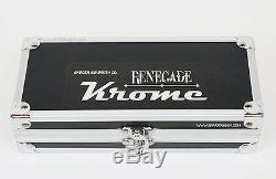 Badger Renegade Krome 2in1 Double Action Airbrush in case 0.21+0.33mm nozzle set