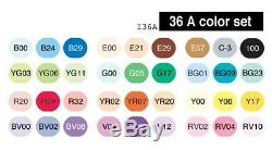 Brand New Copic CIAO Markers 36 Set A with case Free Shipping