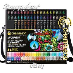 CHAMELEON 52 Colour Tones Permanent Alcohol Ink Pens System Changing Gradient