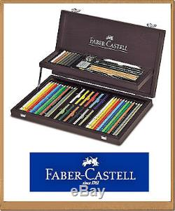 COMPENDIUM OF ART. & GRAPHIC IN WOODEN BOX exclusive set FABER CASTELL