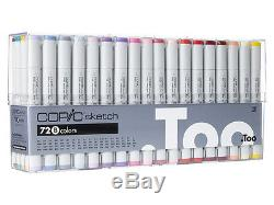 COPIC 72pc Sketch Set B Alcohol Markers S72B Too