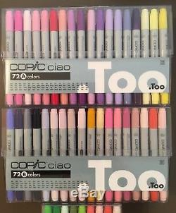 COPIC CIAO 180 MARKERS, Sets A+B+C, NEVER USED, PRISTINE