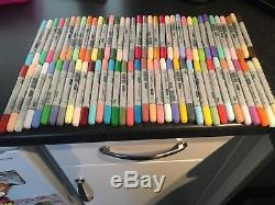 COPIC CIAO BRUSH PENS, set of 72, listed as used most brand new