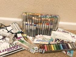 COPIC SKETCH Marker Set Lot Of 101 With Refills And Airbrush