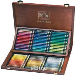 Caran Dache Water Soluble Wax Crayons Neocolor Ii 84 Assorted Col Set Wooden Box
