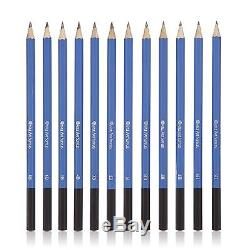 Castle Art Supplies Graphite Drawing Pencils and Sketch Set (40-Piece Kit) Co