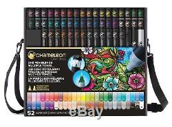 Chameleon Color Tones 52 Pen Deluxe Marker Set Complete with Case and Strap