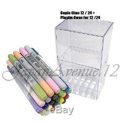 Copic Ciao Customize Your Color Marker Pen 12 24 Set Free Plastic Case EMS
