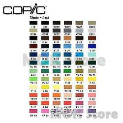 Copic Marker 72 Piece Sketch Set A (Twin Tipped) Artist Markers Anime Comic