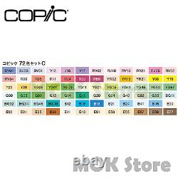 Copic Marker 72 Piece Sketch Set C (Twin Tipped) Artist Markers Anime Comic