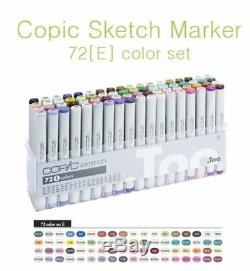 Copic Sketch Marker 72 Color Set E Artist Markers -Express Shipping