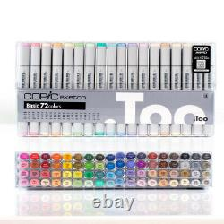 Copic Sketch Markers Basic Set of 72 Japan Exclusive! Free Shipping with Tracking