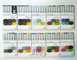 Copic Sketch Markers Set of 6, Lot of 10, Assorted Color Series