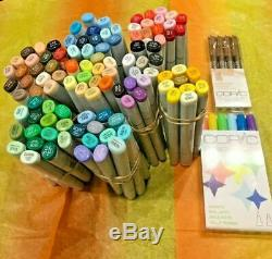 Copic Sketch Markers set of 107 different colors all brand new 2 bonus included