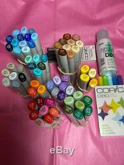 Copic Sketch Markers set of 65 different colors all brand new 3 bonus included