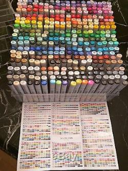 Copic Sketch markers complete set, all 358 colors