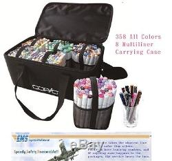Copic marker Sketch all color & Multiliner & carrying case, lot of colors set