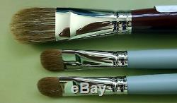 DA VINCI Russian Red Sable Sabeline Oil Acrylic Paint Brush, Filbert, Bundle Set