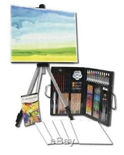 Daler-Rowney 162 Piece Set Complete Art Studio with Easel Painting Kit