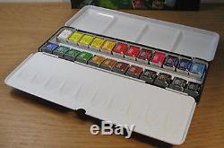 Daler Rowney Professional Artists Quality Watercolour 24 Half Pan Tin Set