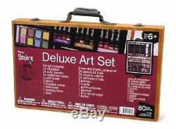 Darice 80-Piece Deluxe Art Set, Free Shipping, New
