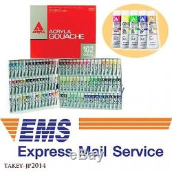 EMS Shipping HOLBEIN WORKS D434 Acryla Gouache 102 Colors Set Japan Tracking