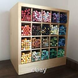 FELISSIMO 500 Colored Pencils complete stored wooden case box Stationery set