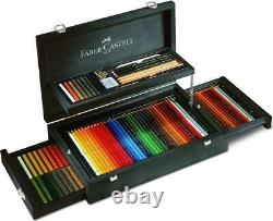 Faber-Castell 126 Piece Set Art & Graphic Collection Mahogany Gift Box NEW SALE