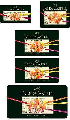 Faber-Castell Polychromos Artist Quality Color Pencils Set From 12 to 120