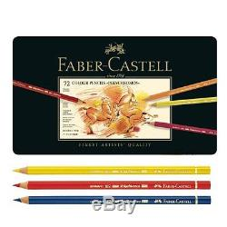 Faber Castell Polychromos Color Pencils Finest Artists Quality, Metal tin Set of