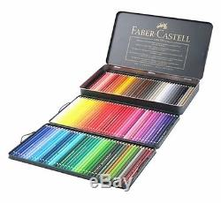 Faber Castell Polychromos Colored Pencils set of 120 Metal Tin Case