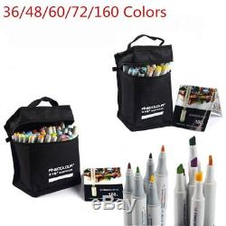 Finecolour 36-160 Colors Set Alcohol Art Twin Tip Marker Pen With Glove Gift