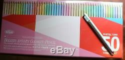 HOLBEIN 50 PENCIL PASTEL SET, PLUS 2 EXTRA Holbein Pencils. NIB Ships From US