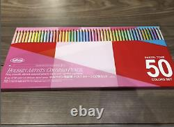 Holbain Artist Colored Pencils Pastel Tone Set 50 Colors from Japan