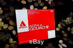 Holbein Acryla Gouache 102 Colors Set 20ml D434 Free EMS Shipping From Japan
