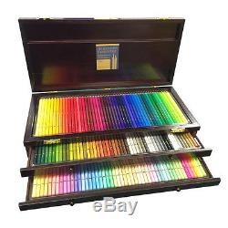 Holbein Artist Coloured Pencil 150 Colours Set in Wooden Box, Free EMS Shipping